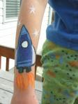 rocket face paint