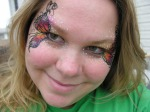 butterfly eyes face paint, the painted otter