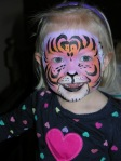 fantasy tiger face paint, the painted otter