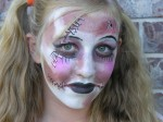 zombie doll face paint