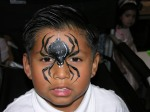 spider face paint, the painted otter