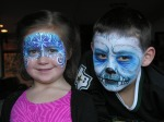 snow fairy face paint, yeti face paint, the painted otter
