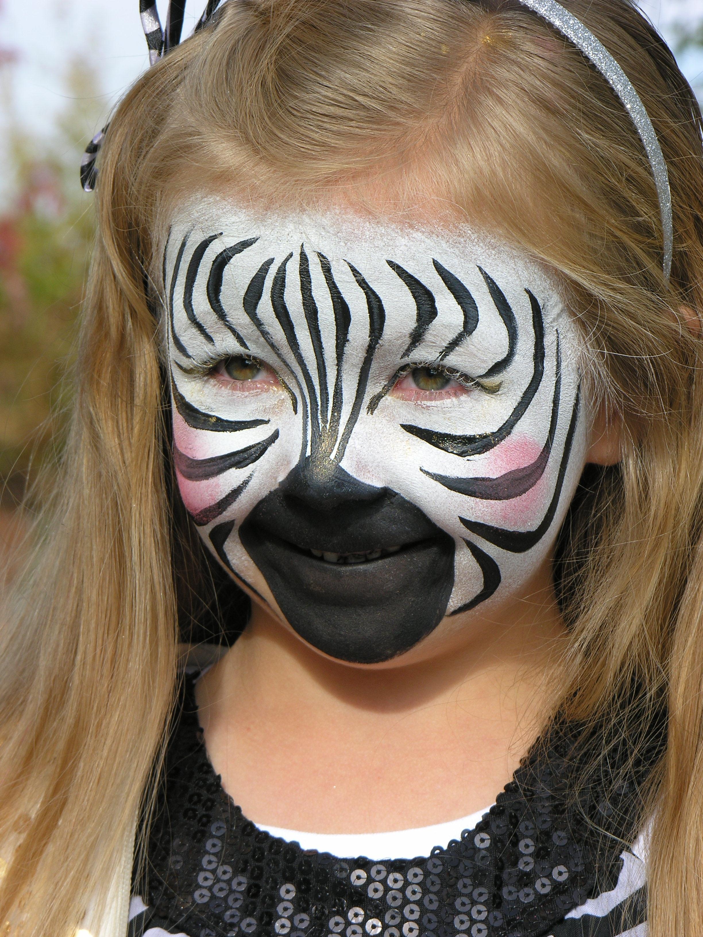 Zebra Face Painting