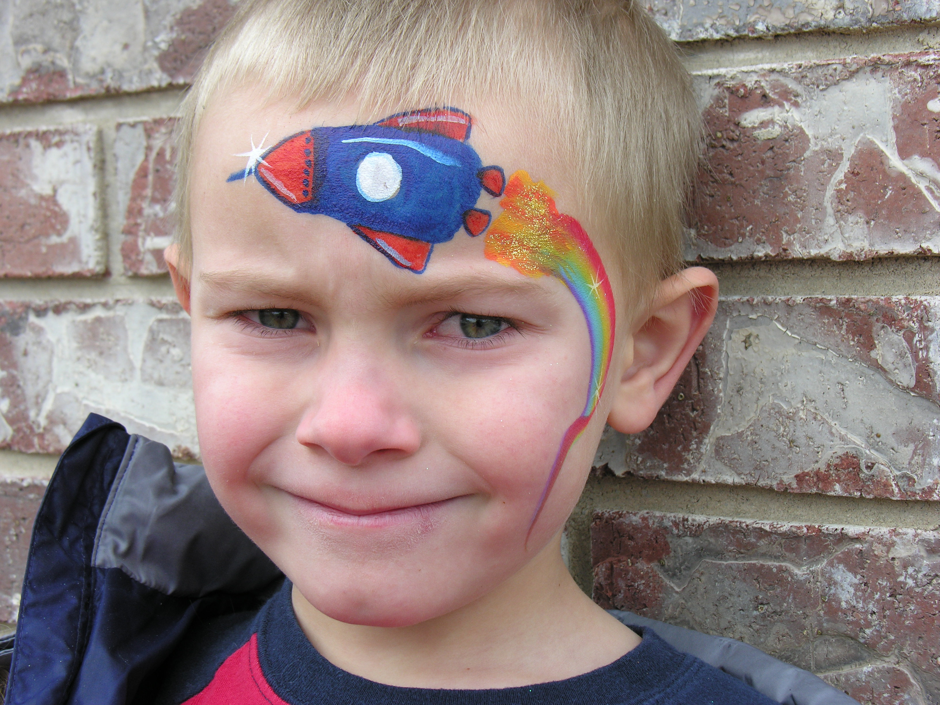 how to put rainbow on face