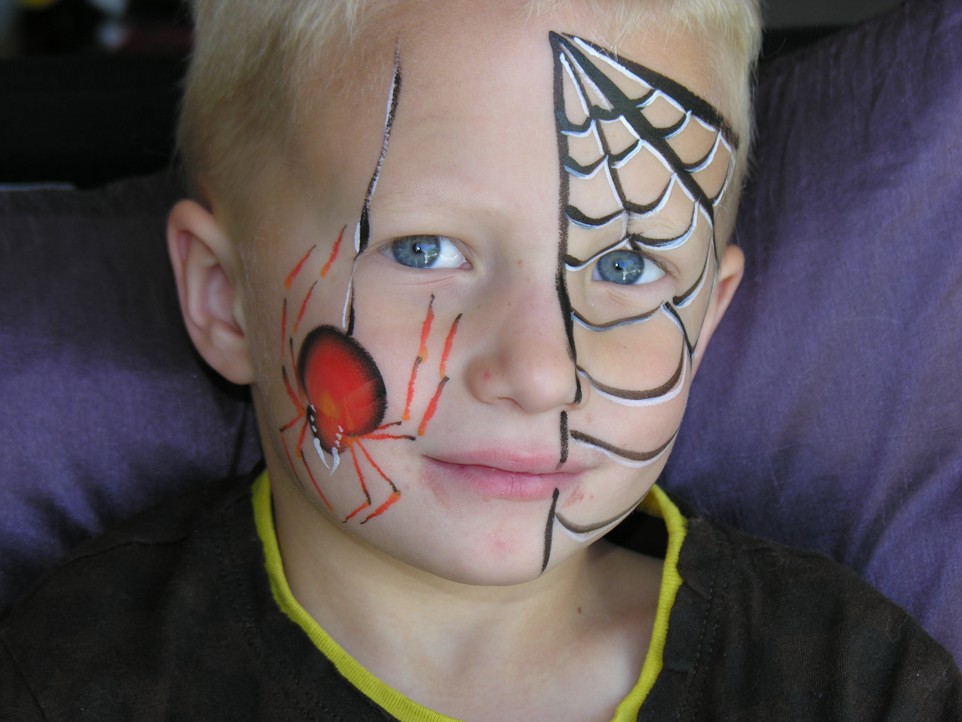Spider Face Paint