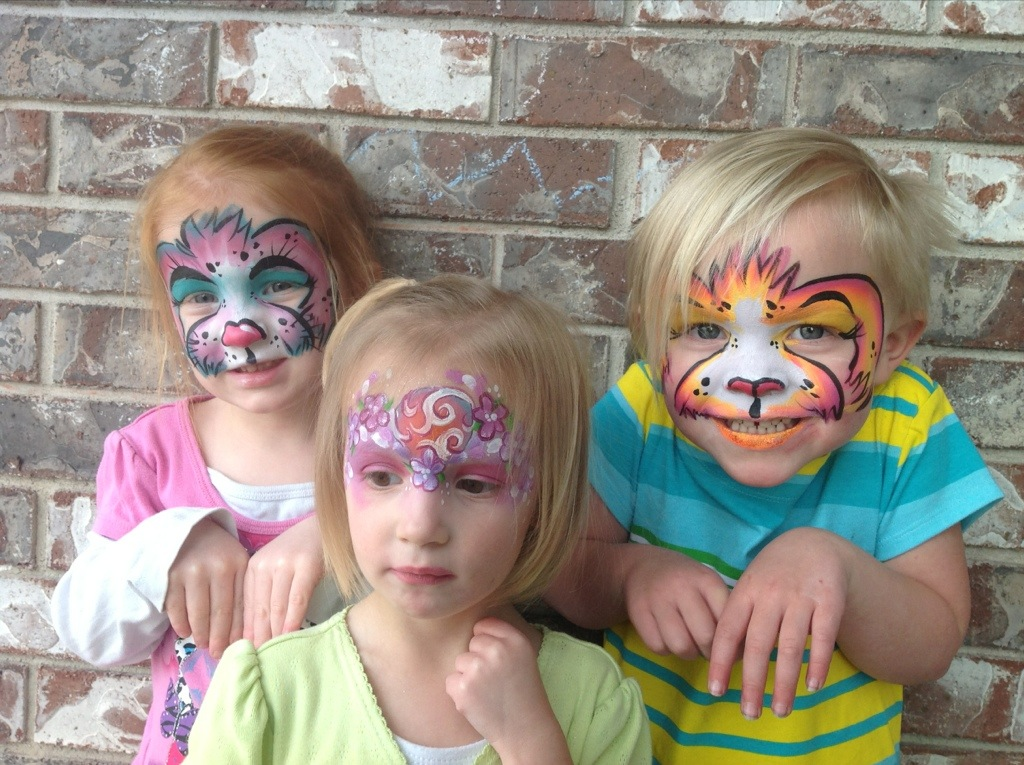 Easter face painting | The Painted Otter