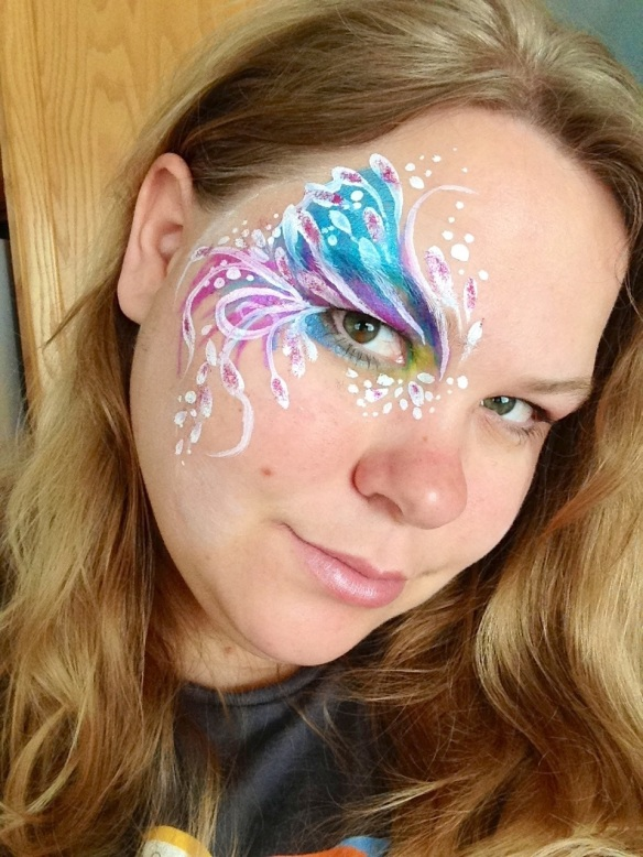 fancy eye face paint