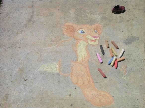 lion king chalk art